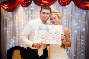шаржисты на свадьбу