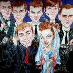 Шарж по фотографии, фотография свадебного шаржа