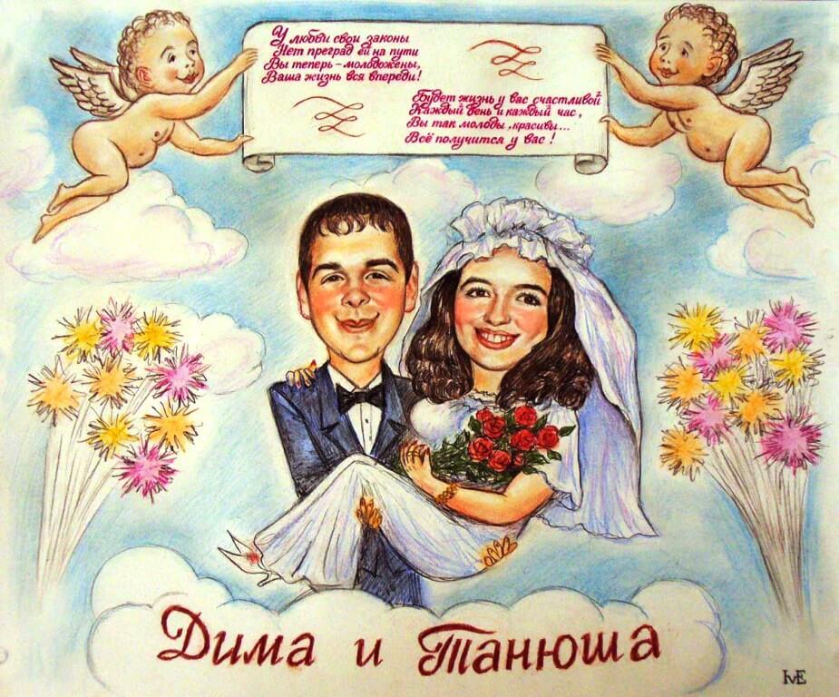 Открытки или плакаты к свадьбе